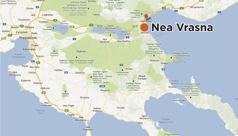 mapa grcke mapa grcke nea vrasna   Turistička agencija Neptun Tours Valjevo mapa grcke